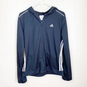 Adidas   Black/White Classic Logo Zip Jacket